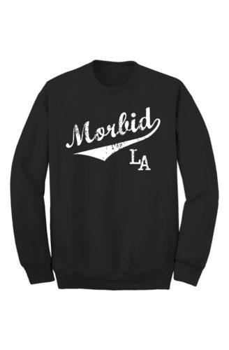 MFLA-Morbid-la-streetwear-Sporty Black Crew Sweater