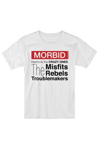 MORBID LA Clothing Streetwear Misfits Rebels White t-shirt