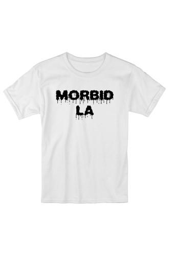 MORBID LA Streetwear Skater Style White TShirt Fashion