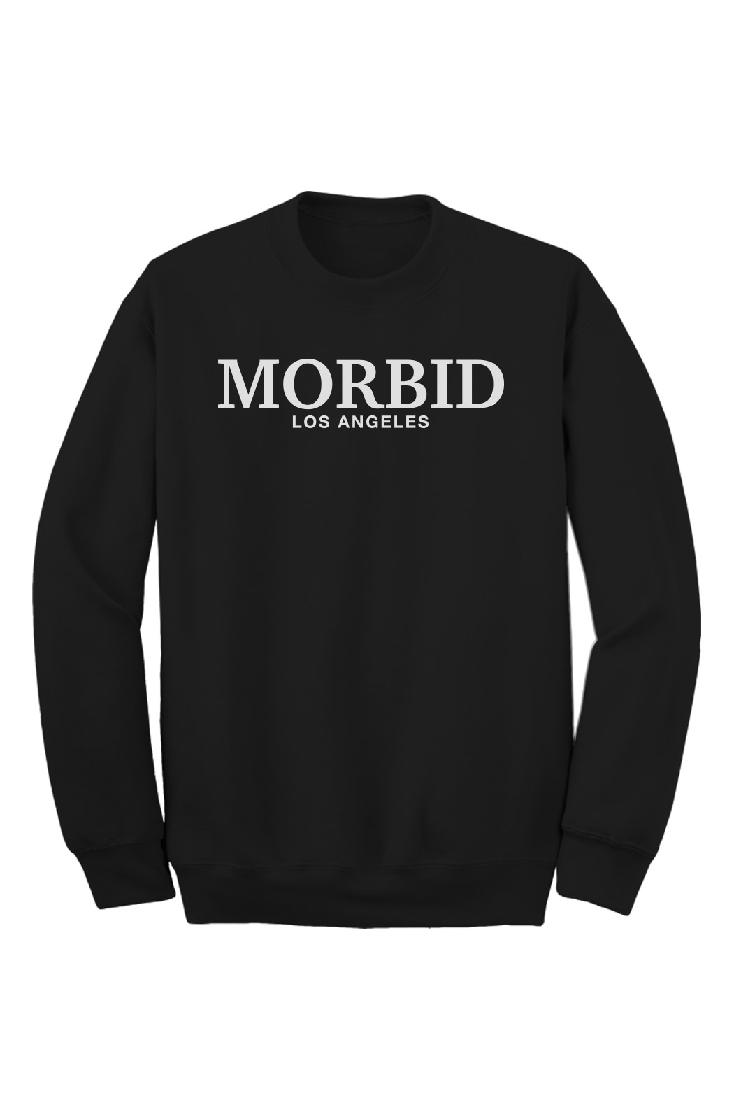 MORBID Los Angeles Clothing Black Fancy Type Crew Sweater Streetwear
