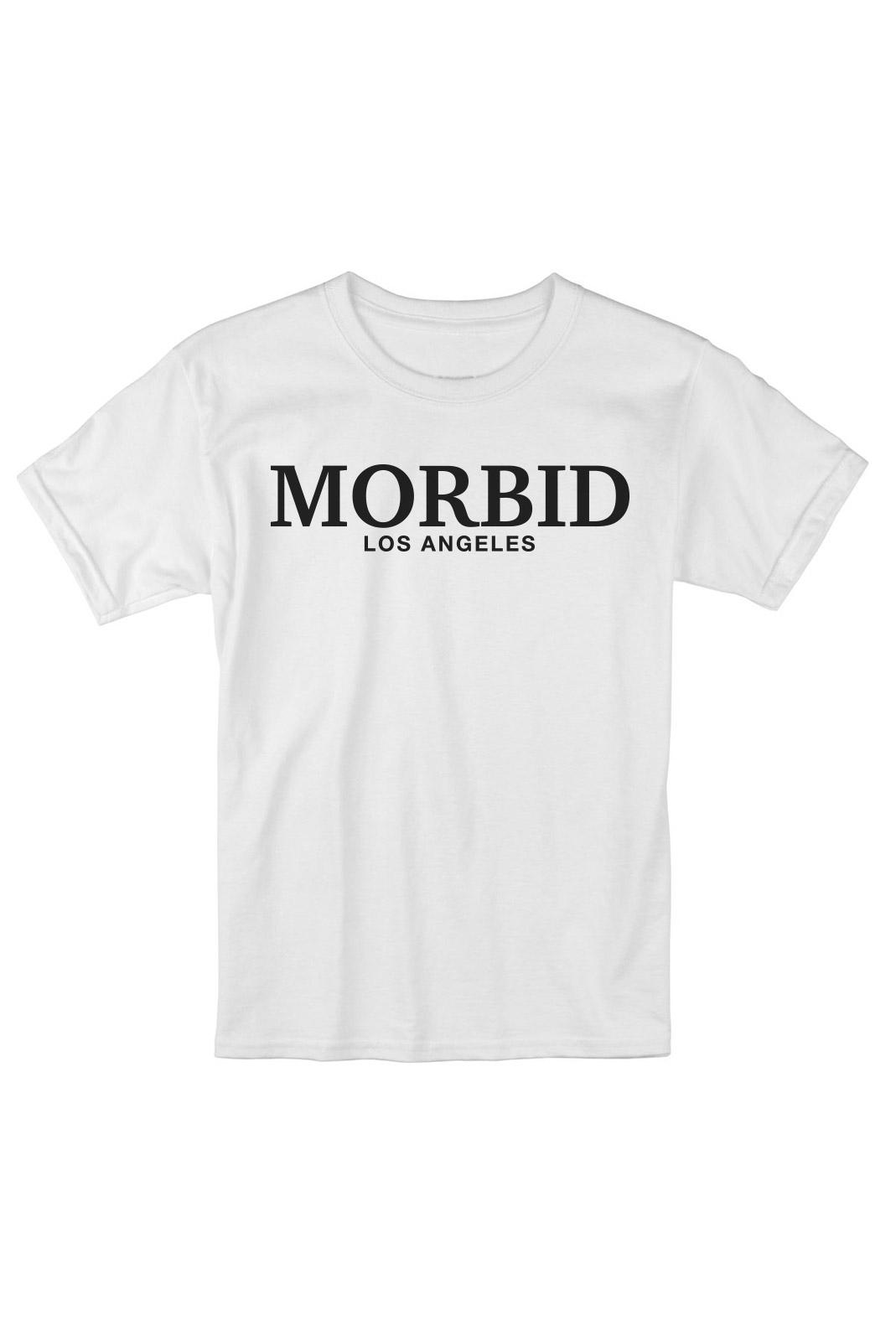 MORBID Los Angeles Clothing Streetwear Fancy Type White t-shirt