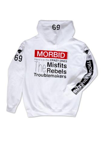 Morbid Fiber Los Angeles Crazy Ones White Hoodie