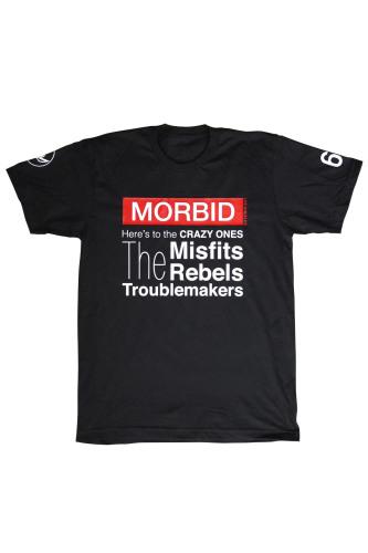 Morbid Fiber Los Angeles Clothing Crazy Ones Black T-Shirt
