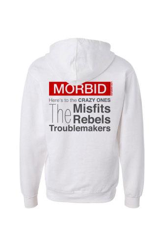 Morbid Fiber Clothing Streetwear Fashion Dope White Hoodie